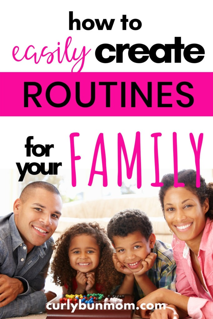 how to easily create routines for moms and families