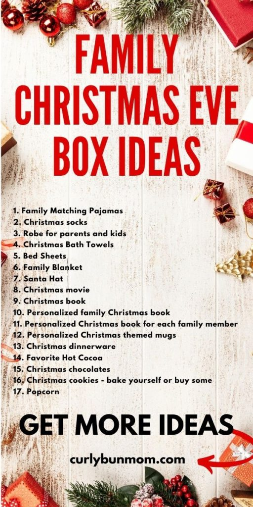 how to make the best family Christmas Eve box