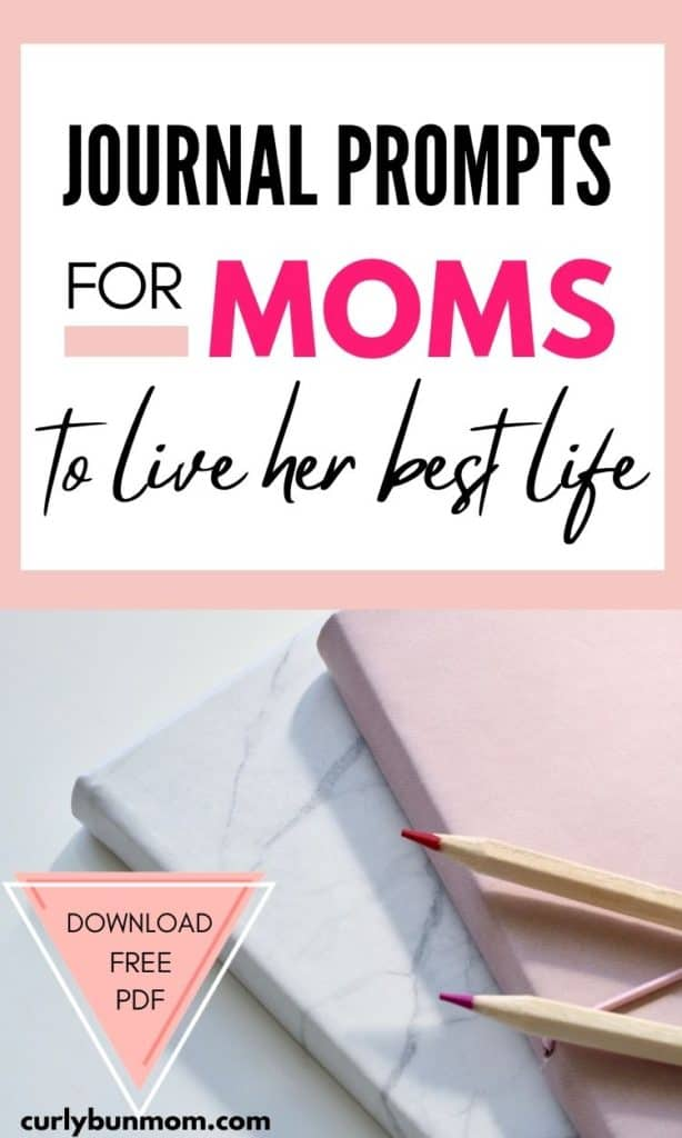 Journal prompts for mom to life her best life