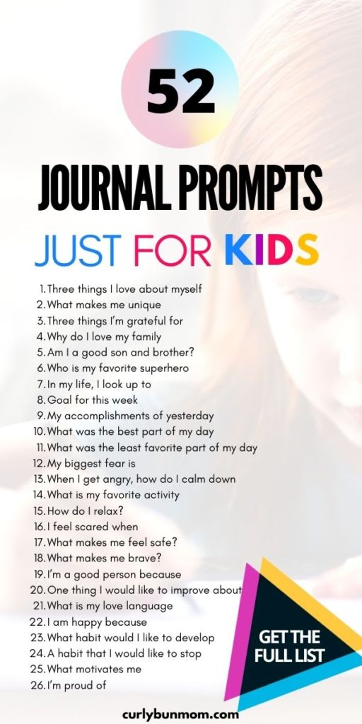 52 Journal Prompts For Kids