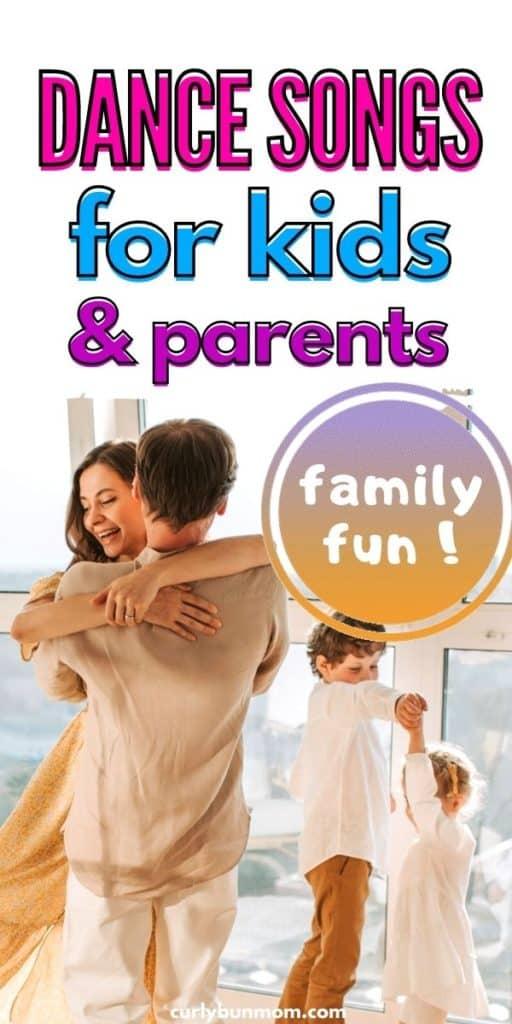 dance songs list for kids & parents