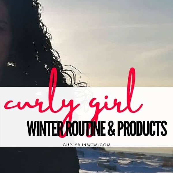 curly hair winter routine and curly hair winter products