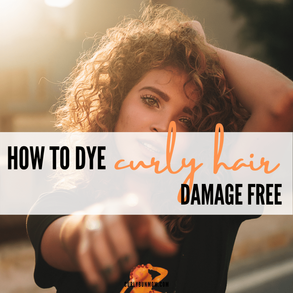 curly dyed hair - dyed curly hair no damage