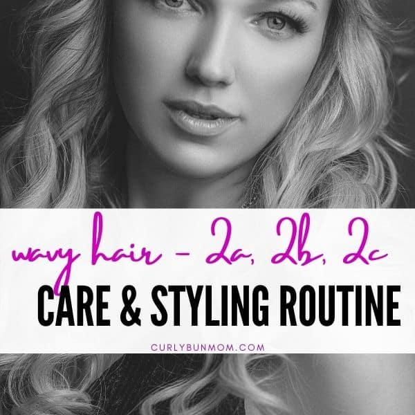 2a 2b 2c hair routine - wavy curly girl method routine - wash day, styling, refresh days