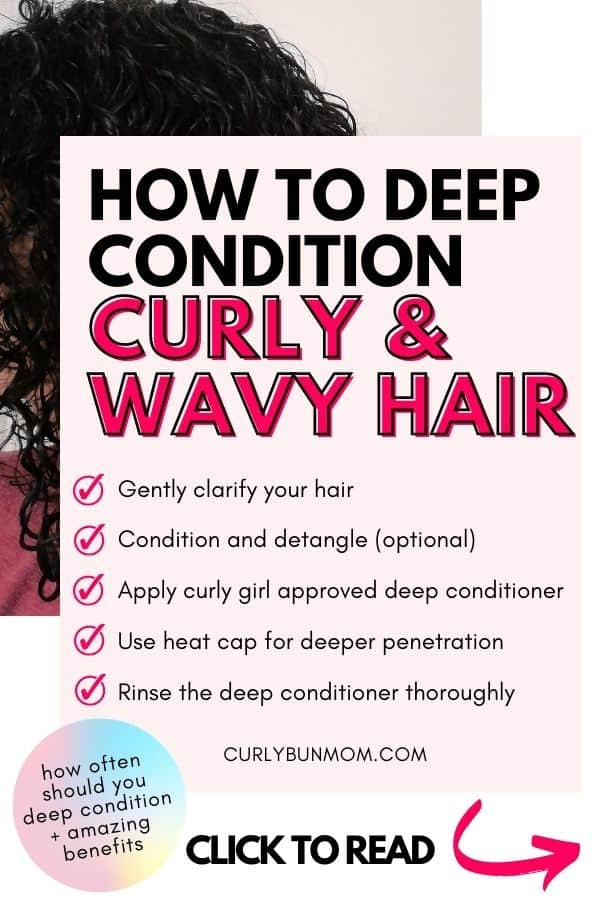 how-to-deep-condition curly hair wavy hair - curly girl approved - curly girl method