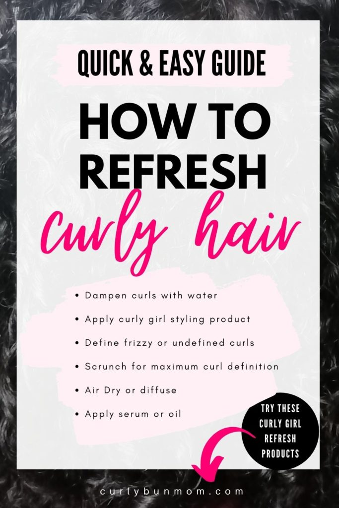 how to refresh curls in the morning - how-to-refresh-curly-hair-second-day-curls