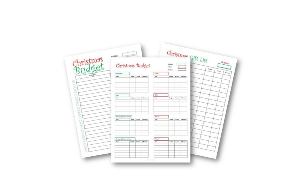 Ways to save money in December - Christmas Budget Tracker Free PDF