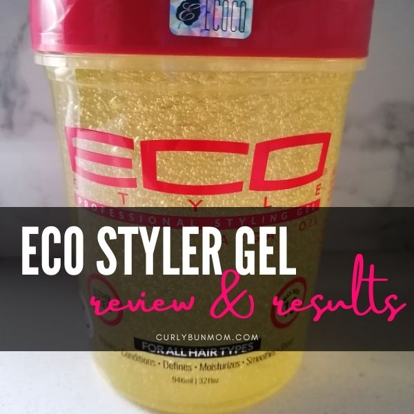 Eco Styler Gel - Affordable, Budget Friendly Curly Girl Approved Gel Review. Eco Styler Argan Oil Gel curly 3b hair and 2b wavy hair results