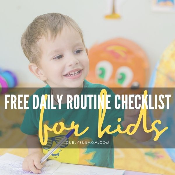 Free Printable Daily Routine Checklists For Kids - morning checlist for kids - evening checklist for kids
