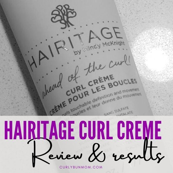 Heritage Curl Creme Curly girl method approved product Review & Result